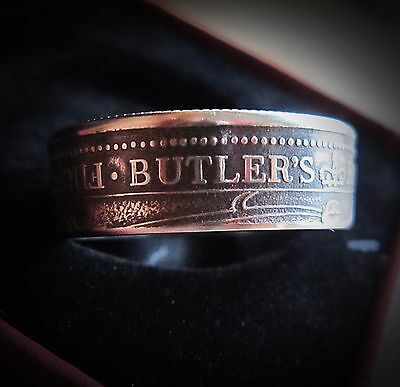Coin ring Butlers Rangers First Settlers Canada  size 14