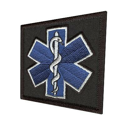 star of life paramedic EMS EMT tactical morale medic aufnäher hook&loop patch