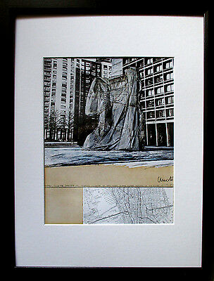 CHRISTO >Picasso Sylvette< HAND-SIGNIERT, 26x21, Rahmen, orig.signed,