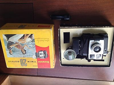 Kodak Brownie Twin 20 Outfit Camera w/ Original Box