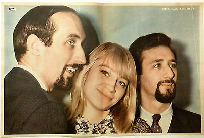 PETER, PAUL and MARY - 1960'S MAGAZINE CENTREFOLD POSTER