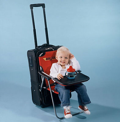 Ride on Carry on Infant/Child Folding Seat Travel Chair Table Luggage Attachment