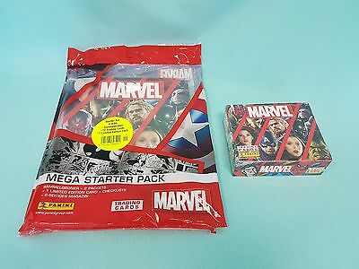 Panini Marvel Heroes 2017 Starterpack + 1 x Display / 24 Booster Trading Cards
