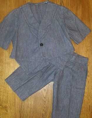 Vintage Denim Suit Cropped Pants Shorts Boy's Size 2T, 3T, 4T