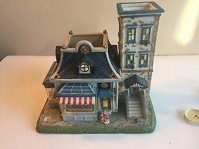 PARTYLITE Olde World Village #6 TOY SHOPPE - Double Tealight House - RETIRED