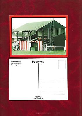 Postcard - Krooner Park home of Camberley Town Football club
