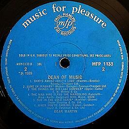 Dean Martin - Dean Of Music - Music For Pleasure - 1959 #742587