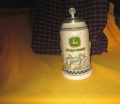 John Deer Collectible Stein Handcrafted In Brazil Avon Product VY Good Condition
