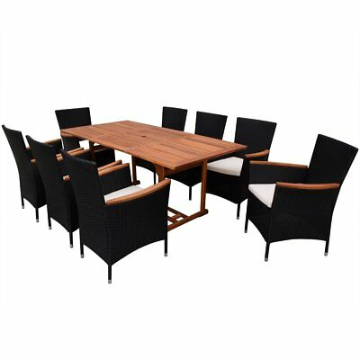 poly rattan 17 tlg essgruppe sitzgruppe gartengarnitur gartenm bel holz tisch eur 422 99. Black Bedroom Furniture Sets. Home Design Ideas