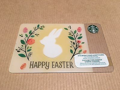 Starbucks 2015 Easter Bunny/Happy Easter Gift Card,$0 Money on Card. Cute!