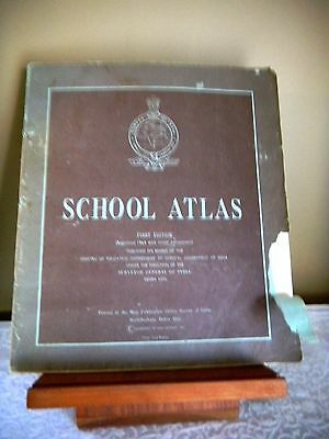Vintage School Atlas Maps 1St Edition 1964 Ministry Of Education India ~ Rare!