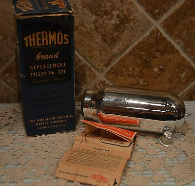 Vintage Thermos Replacement Filler #32F~Box In Poor Condition~
