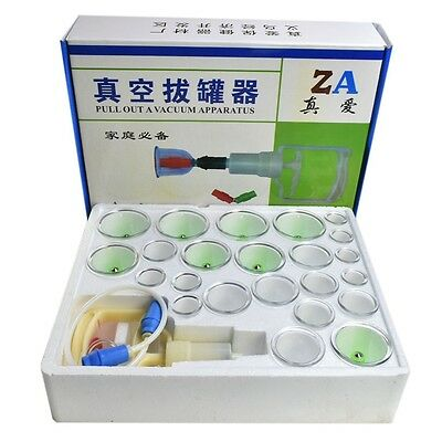 Cupping Set 24 Cups and Extension Tube Massage Acupuncture Vacuum Therapy