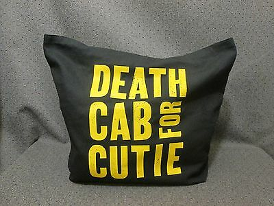 Death Cab For Cutie Concert/band Tote/shoulder Bag Black W/yellow Lettering