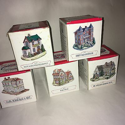 Liberty Falls Houses-Lot of 5-in boxes-collectible-hard to find-never used