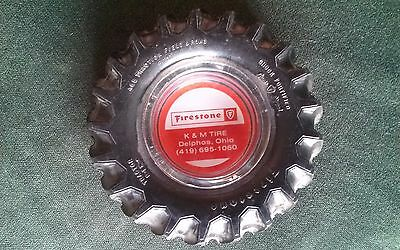 Rare Firestone Ashtray~ ~All Traction Field & Road~