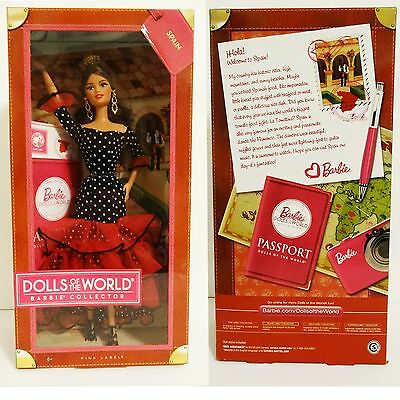 BARBIE COLLECTOR DOLL 2012 Dolls of the World Pink Label NRFB : SPAIN