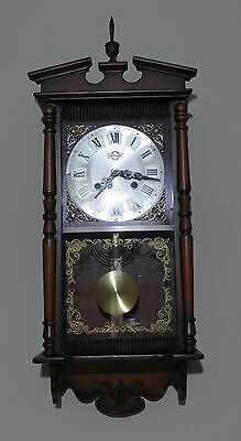 CLOVER 31 Day Wall Hanging Pendulum Clock - Good Working Condition