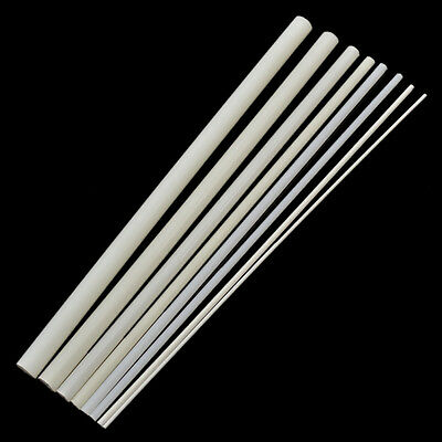 2 Pcs Styrene Plastic Round Bar Rods DIY Sand Table Building Model Decor