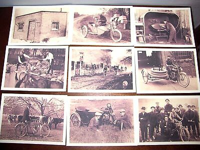 Vintage Harley Davidson Postcards~Lot Of 9 Collectible Postcards~New