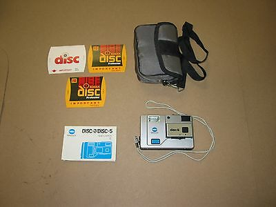 MInolta disc-5 camera with manual and case