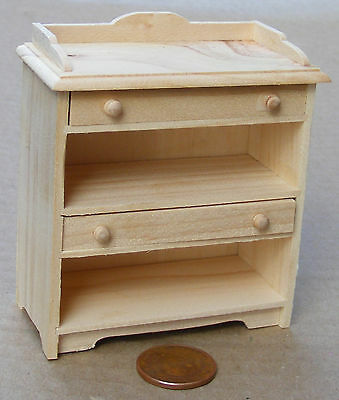 1:12 Scale Natural Finish Wood Storage Stand Tumdee Dolls House Miniature 134