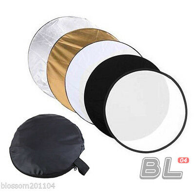 """32"""" 80cm 5in1 Photography Photo Reflector Light Collapsible Reflector Studio"""