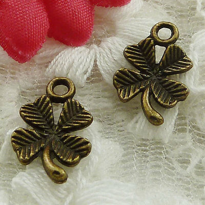 free ship 330 pieces bronze plated bunge bedstraw herb charms 15x10mm #2455