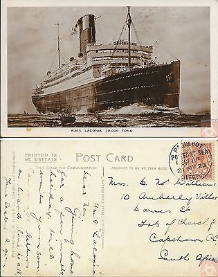Angleterre - Carte Postale PAQUEBOT - LACONIA - Posted at Sea 1923 - Liverpool