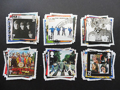 GB stamps - 2007 The Beatles. Album Covers. Set of 6 used stamps