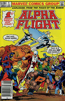 Alpha Flight 1 Newsstand FN 1983 Marvel Comic Book
