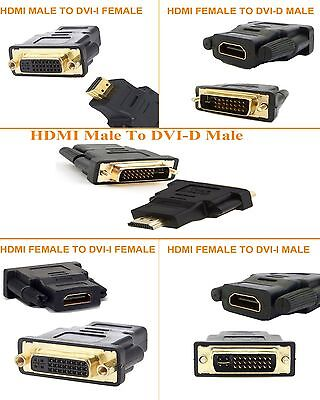DVI-I / DVI-D Male To HDMI Male Female Gender Adapter Video Converter For Laptop