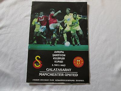 1993-94 CHAMPIONS LEAGUE GALATASARAY v MANCHESTER UNITED