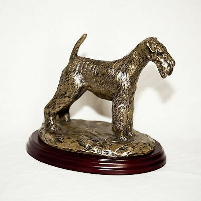 AIREDALE TERRIER  Bronze Figurine. Hand made in England. Ideal gift.
