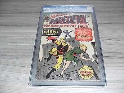 Daredevil #4 Cgc Universal Grade 3.0 (Good/very Good) Lee Kirby 1St Purple Man