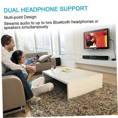 Wireless Bluetooth 4.0 Audio Transmitter Adapter 3.5mm Jack for TV/DVD/MP3 R4