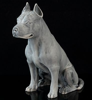 Staffordshire Pit Bull Terrier Marble Figurine Russian Art Animal Dog Sculpture