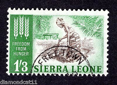 1963 Sierra Leone 1/3 Freedom from Hunger SG 256 Fine Used R25677