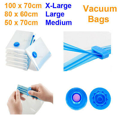 New Vacuum Storage Bags Saver Seal Compressing Space Saving Experts XL L M Size