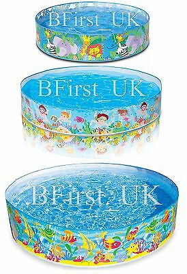 Children Kids Toddler Garden Rigid Swimming Paddling Pool Round Outdoor Summer
