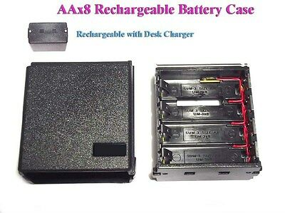 AAx8 Rechargeable Battery Case Icom IC-2AT 02AT 04AT 2GAT 32AT A2 M5 M12 HTX-202