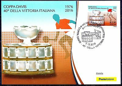 Italy 2016 Tennis - DAVIS CUP Sport/Italian Victory - 40 years Maxicard