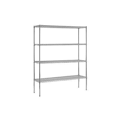 Sandusky Heavy Duty 4-Level NSF Certified Wire Shelving - Chrome NEW NEW NEW