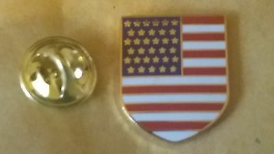united states of america   Flag Shield Pin Badge usa donald trump