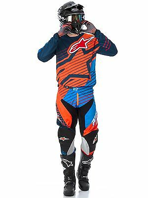 New 36 XL Alpinestars Racer Braap Aqua Flo Orange Jersey Pant Kit Motocross