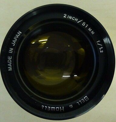 BELL & HOWELL 2 INCH 51MM F1.2 FAST PROJECTION LENS Projector Photography VGC