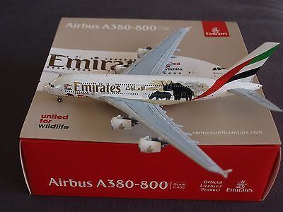 Emirates Airbus A380-800 A6-EDG Wildlife 2# Gemini Model 1:400 Scale GJUAE1551
