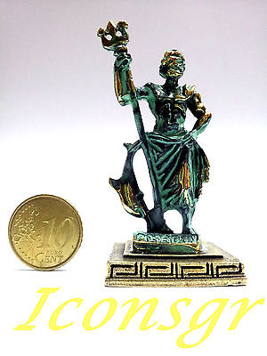 Ancient Statue Poseidon King Of Sea Greek Olympian God Miniature Zamac