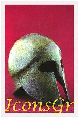Ancient Greek Bronze Museum Replica Vintage Corinthian Soldier Battle Helmet