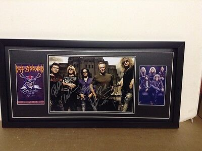 Def Leppard Genuine Hand Signed/Autographed Photograph with COA